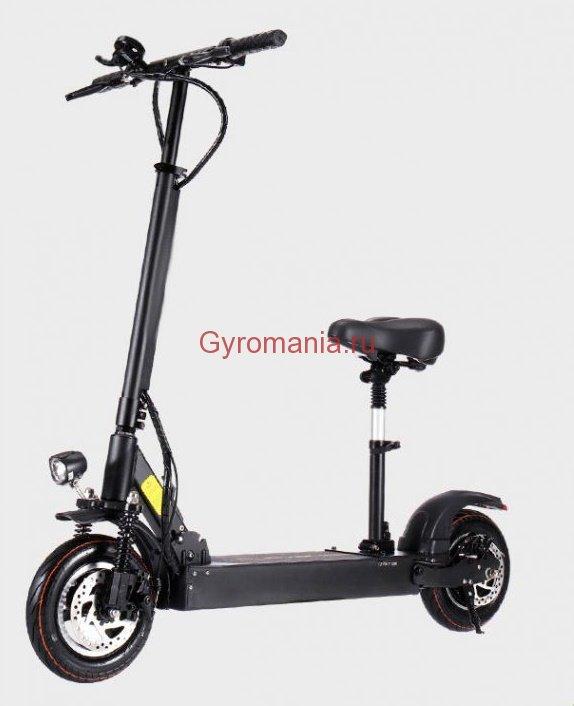 Электросамокат Joyor Y5S 500W с сиденьем, черный - купить в  интернет-магазине GyroMania, Москва